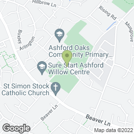 Map of B Smith & Sons in Ashford, kent