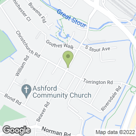 Map of D H Plasterers in Ashford, kent