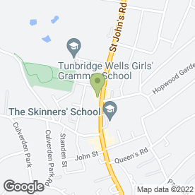 Map of All Signs in Tunbridge Wells, kent