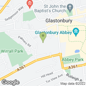 Map of Wm Morrison Supermarkets plc in Glastonbury, somerset