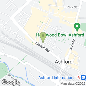 Map of Kingsfords Solicitors LLP in Ashford, kent