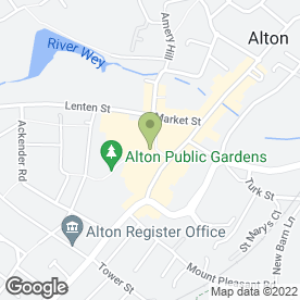 Map of River Kwai in Alton, hampshire