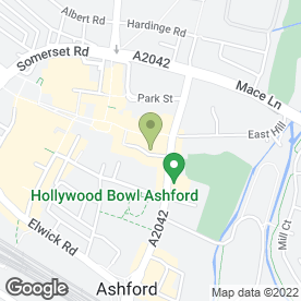 Map of KFC in Ashford, kent