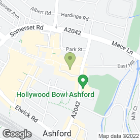 Map of Cornerstone B & B in Ashford, kent