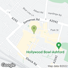 Map of Greggs in Ashford, kent