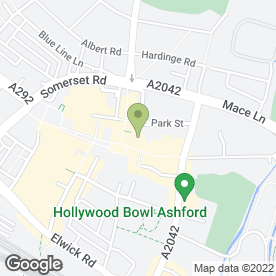 Map of McDonald's Restaurants Ltd in Ashford, kent