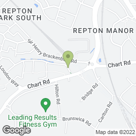 Map of MRB Decorating services in ASHFORD, kent