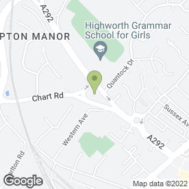 Map of Barrow Hill Veterinary Hospital in Ashford, kent