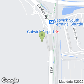 Map of Frankie & Bennys in London Gatwick Airport, Gatwick, west sussex