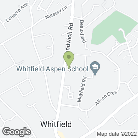 Map of Whitfield Evening Women's Institute in Whitfield, Dover, kent