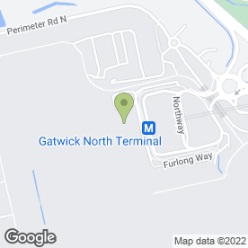Map of Garfunkel's in London Gatwick Airport, Gatwick, west sussex