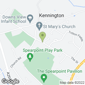 Map of P P Landscaping in Kennington, Ashford, kent