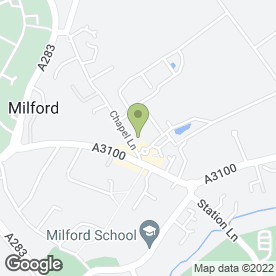 Map of Dr J Savundra in Milford, Godalming, surrey
