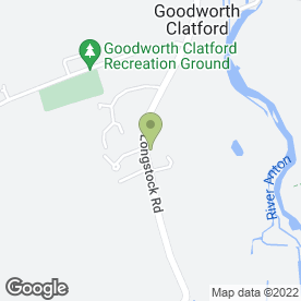 Map of The Clatford Arms in Goodworth Clatford, Andover, hampshire