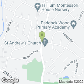Map of Streetens Ltd in Paddock Wood, Tonbridge, kent