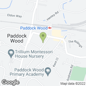 Map of Tesco Express in Paddock Wood, Tonbridge, kent
