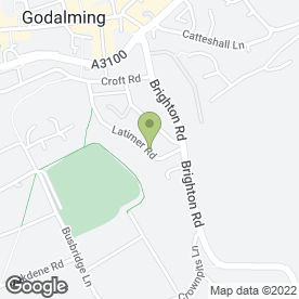 Map of IJA Plastering in Godalming, surrey