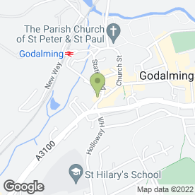 Map of Rare in Godalming, surrey