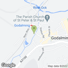 Map of SHORTFIELD GARAGE in Godalming, surrey