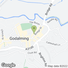 Map of GODALMING ART SHOP in Godalming, surrey
