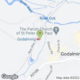 Map of GODALMING VETERINARY SURGERY in Godalming, surrey