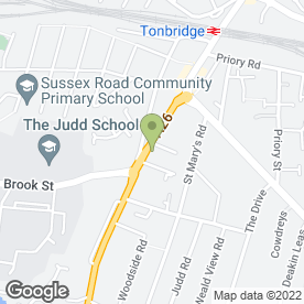 Map of The Carpet Centre in Tonbridge, kent