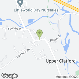 Map of Virginia Hannan in Upper Clatford, Andover, hampshire