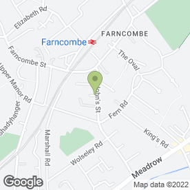 Map of Cathay House in Farncombe, Godalming, surrey