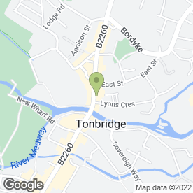 Map of Cycles UK in Tonbridge, kent