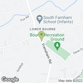 Map of Bourne Store in Lower Bourne, Farnham, surrey