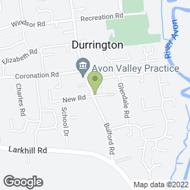Map of Cross Plain Surgery in Durrington, Salisbury, wiltshire