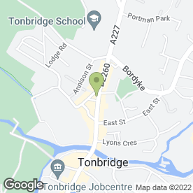 Map of Carousel Health & Beauty Salon in Tonbridge, kent