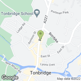 Map of Susan Adams Business Services in Tonbridge, kent