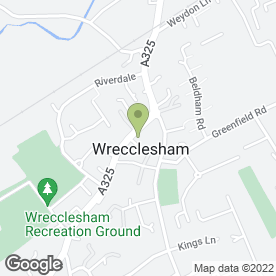 Map of Jade Garden in Wrecclesham, Farnham, surrey