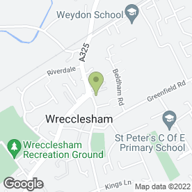 Map of Wrecclesham P.O in Wrecclesham, Farnham, surrey