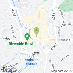 Map of White Hart Hotel in Andover, hampshire