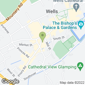Map of Palmer Snell Lettings in Wells, somerset