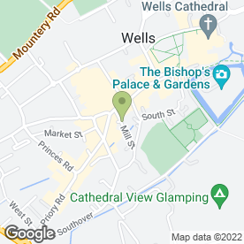 Map of Wells Knitting Centre in Wells, somerset