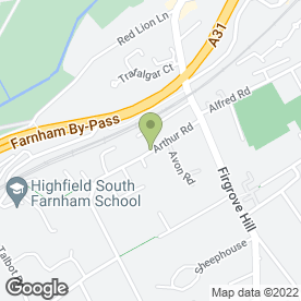 Map of Maureen's School of Motoring in Farnham, surrey