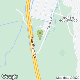 Map of J & D Landscaping Contractors in North Holmwood, Dorking, surrey