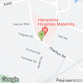 Map of RG Mayne in Andover, hampshire