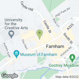 Map of Cote Brasserie in Farnham, surrey