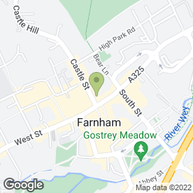 Map of SANDWICH SHOP in Farnham, surrey