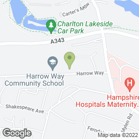 Map of Harrow Way Community School in Andover, hampshire