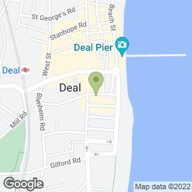 Map of Walmer Castle in Deal, kent