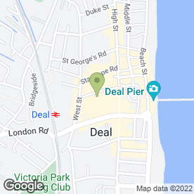 Map of Jilly's Professional Drycleaners in Deal, kent