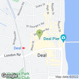 Map of Gregorys' Cafe in Deal, kent