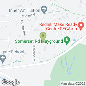 Map of Meadvale Garage in Redhill, surrey