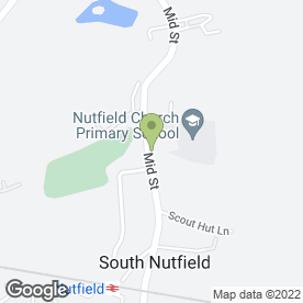 Map of Nutfield Church Primary School in South Nutfield, Redhill, surrey
