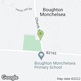 Map of Boughton Monchelsea P.O in Boughton Monchelsea, Maidstone, kent